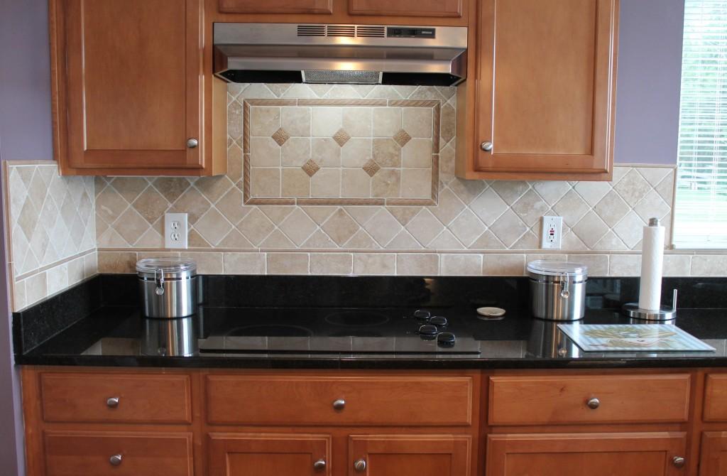 Tumbled Marble Kitchen Backsplash