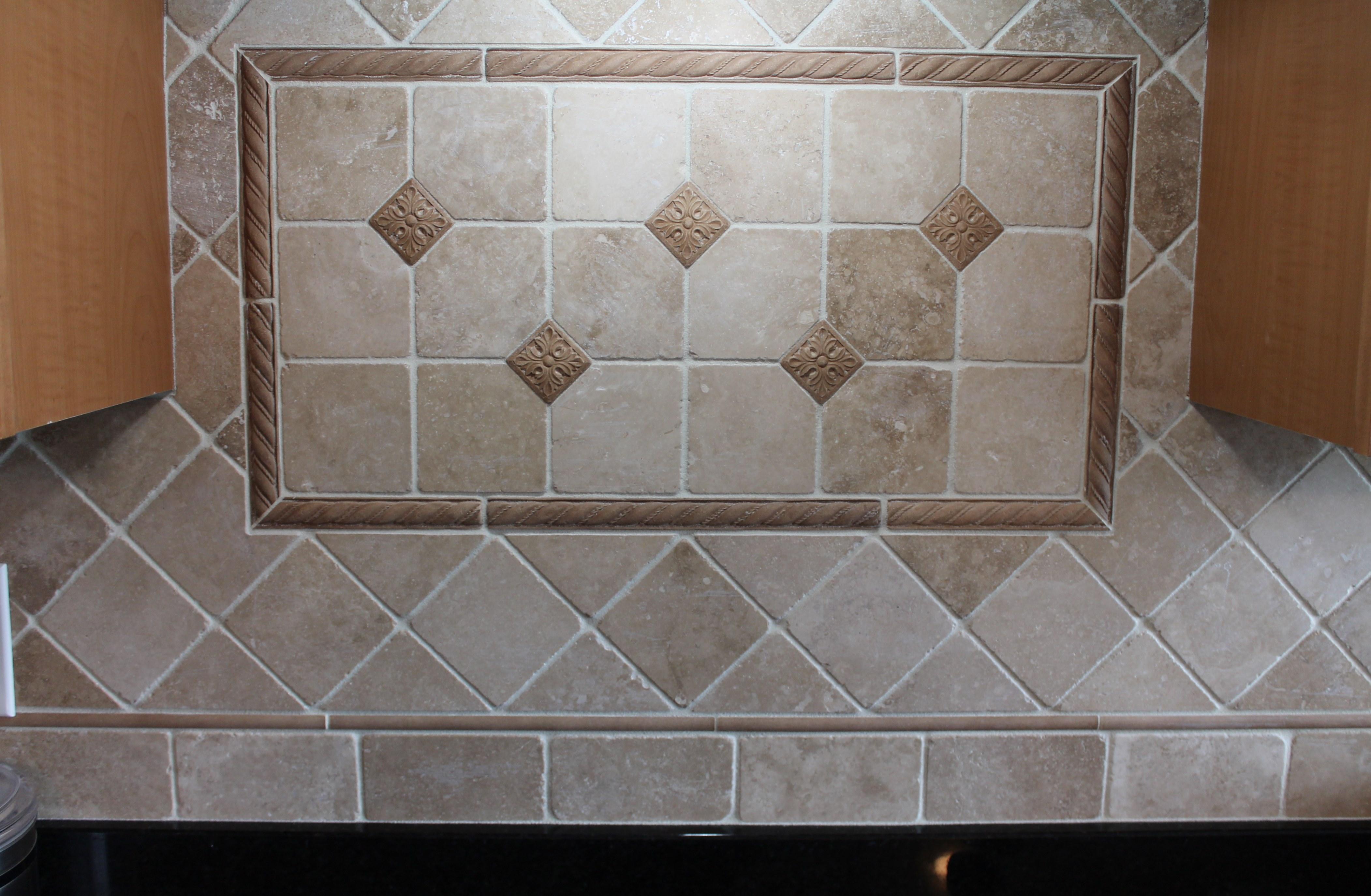 Tumbled Marble Backsplash Floor Coverings International Cincinnati East